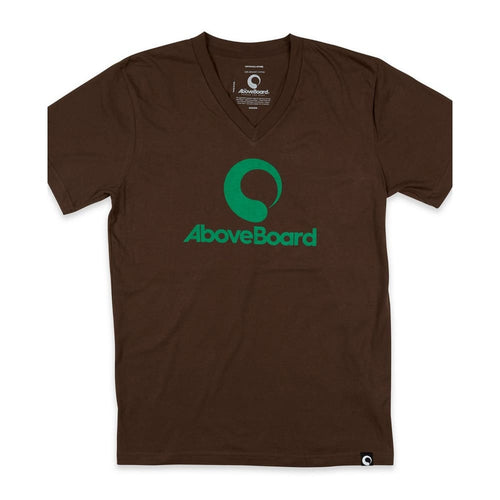 AB T-Shirt V-Neck Original Organic - Brown / Small - Clothing