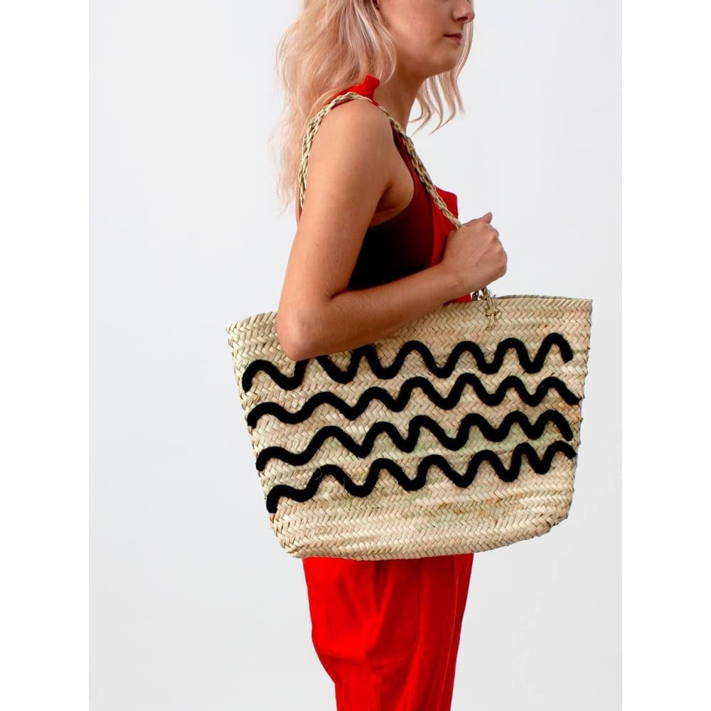 B Wave Tote Basket - Natural - Accessories