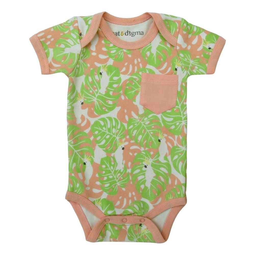 C&D Bodysuit Tropical Camo - Green/Rose / 3-6 Mths - Clothing