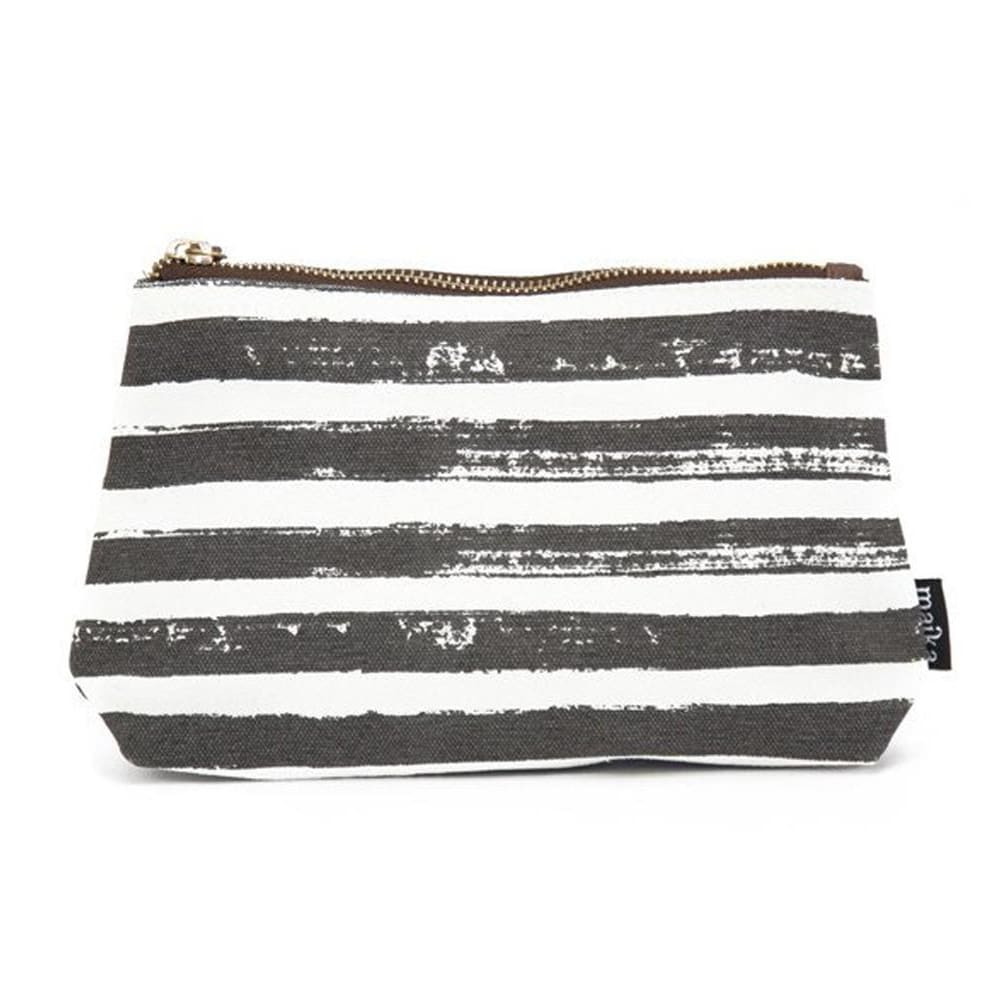 MK Wristlet Pouch - Stripes Charcoal / One Size - Accessories
