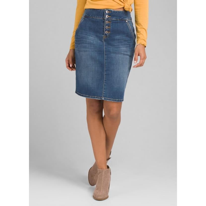 PL Aubrey Denim Skirt - Antique Blue / Clothing