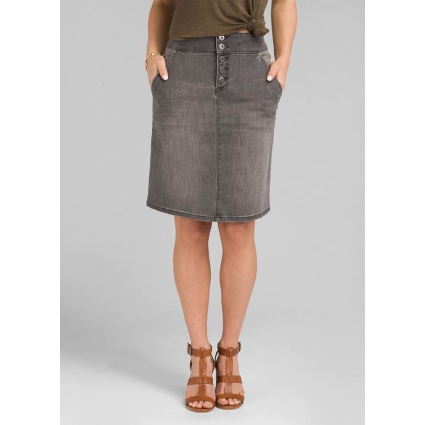 PL Aubrey Denim Skirt - Grey Denim / Clothing
