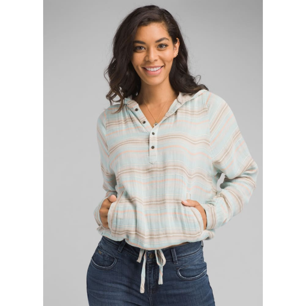 PL Baja Popover Women - Iced Aqua / X-Small - Clothing