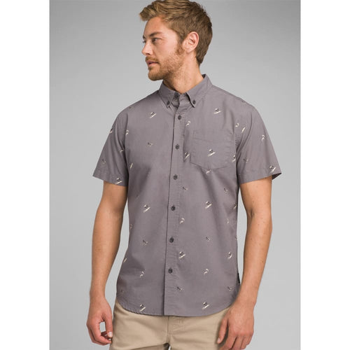 PL Broderick SS Shirt Slim - Gravel / Small - Clothing