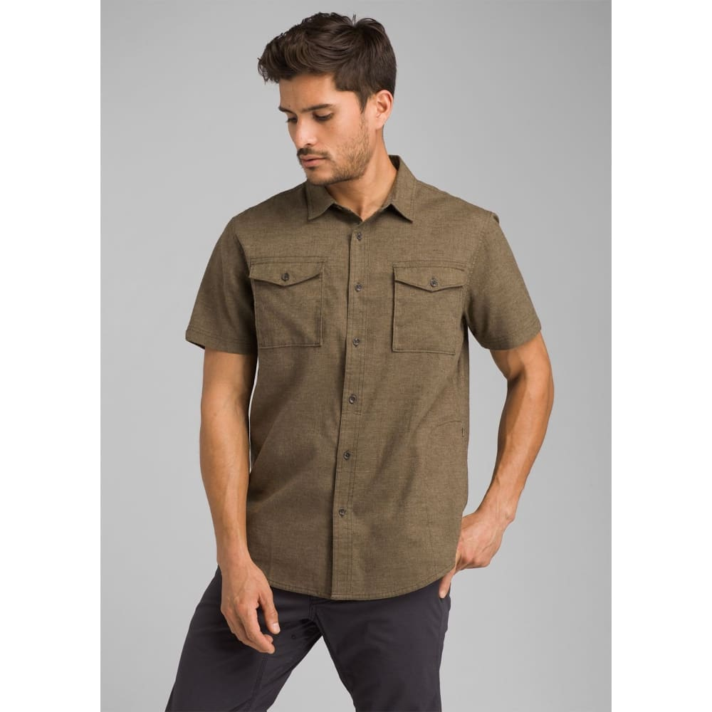 PL Merger SS Shirt Slim - Cargo Green / Medium - Clothing