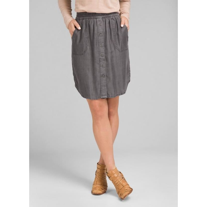 PL Shelly Skirt - Grey Wash / X-Small - Clothing