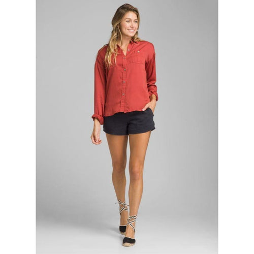 PL Updrift Top Button Down Women - Red / X-Small - Clothing