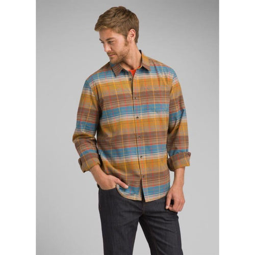 PL Wyndwell Flannel LS Shirt Button Down - Driftwood / Small - Clothing