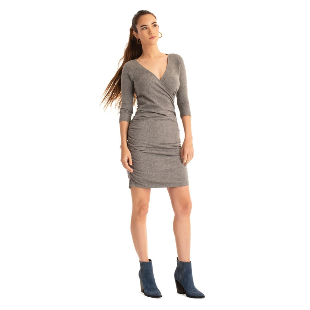S Bella Dress - Grey / X-Small - Clothing