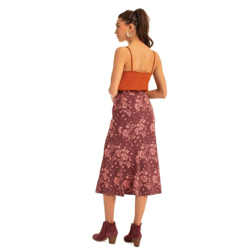 S Long Skirt Floral - Clothing