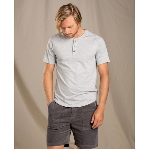 T&C Henley Tempo SS - Heather Grey / Small - Clothing