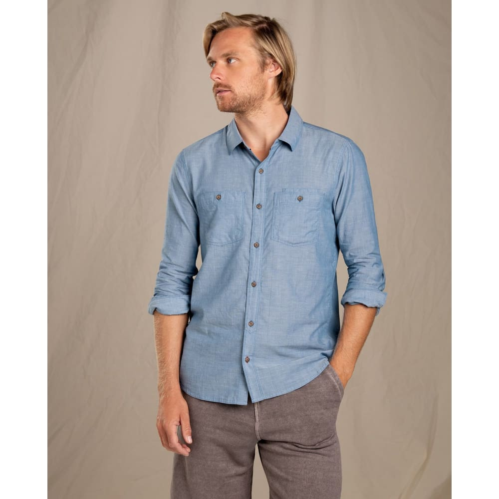 T&C Honcho Dos LS Button Down - Bright Indigo / Small - Clothing