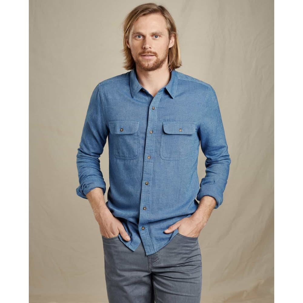 T&C Indigo Flannel Slim Fit - Light Indigo / Small - Clothing