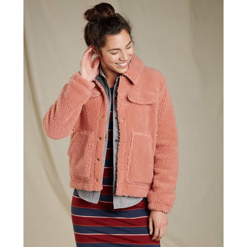 T&C Jacket Hutton Sherpa - Rose / X-Small - Clothing