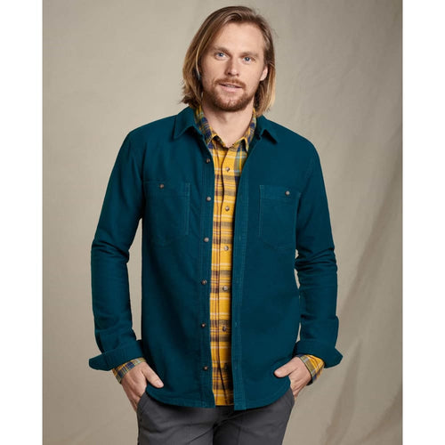 T&C Morrison Shirt L/S - Blue Spruce / Small - Clothing