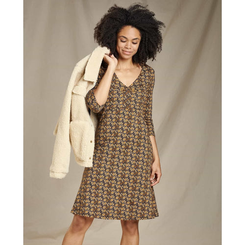 T&C Rosalinda Dress - Floral Brown / X-Small - Clothing