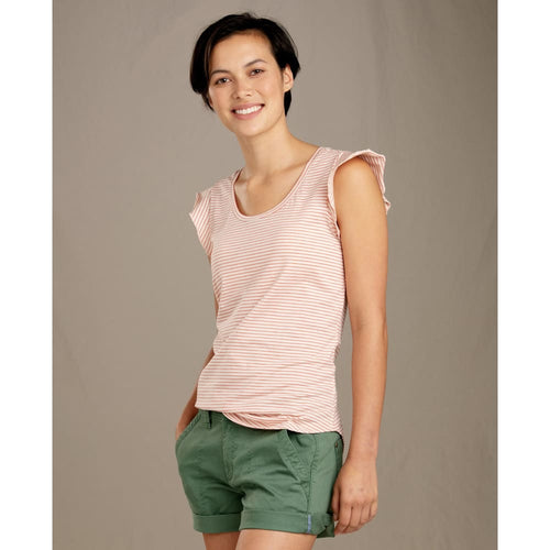 T&C Rufflita Tee - Pink Sand / X-Small - Clothing