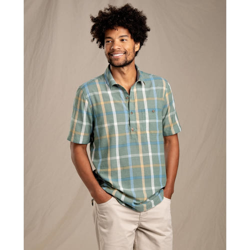 T&C Shirt Cuba Libre SS Half Button - Duck Green / Medium - Clothing