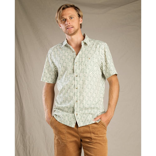 T&C Shirt Fletch SS Arrow Button Up - Salt / Medium - Clothing