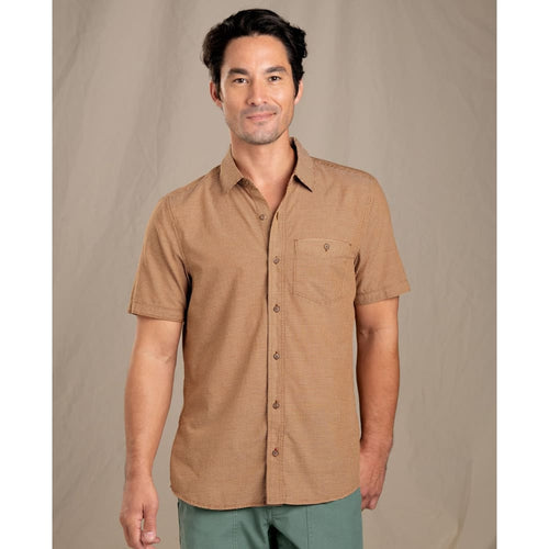 T&C Shirt SS Airbrush Levee - Brown Sugar / Small - Clothing