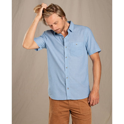 T&C Shirt SS Airbrush Levee - Clear Blue / Small - Clothing