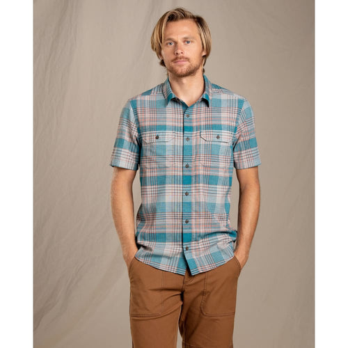 T&C Shirt SS Hookline - Riviera Blue / Small - Clothing