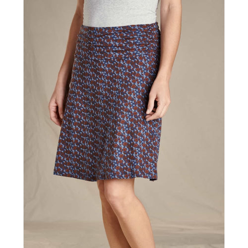 T&C Skirt Floral - Navy Floral / X-Small - Clothing