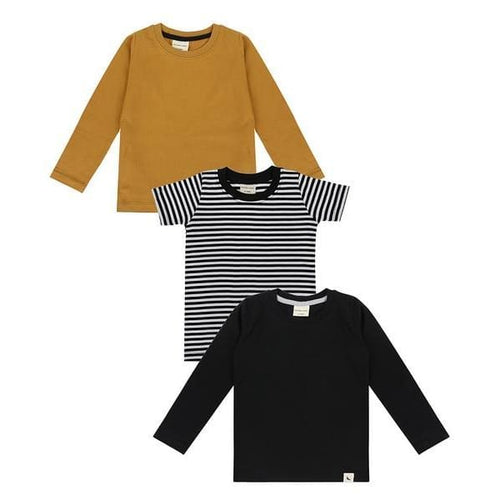 TL Layering Tops 3-Pack - Mustard/Black/White / 2-3 - Clothing