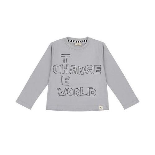 TL Shirt Change the World Grey - Clothing
