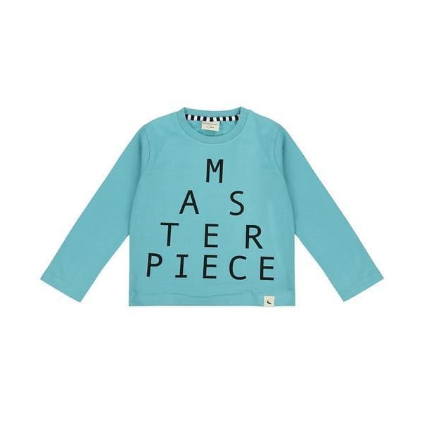 TL Shirt Masterpiece Teal Long Sleeve - 0-6 Mths - Clothing