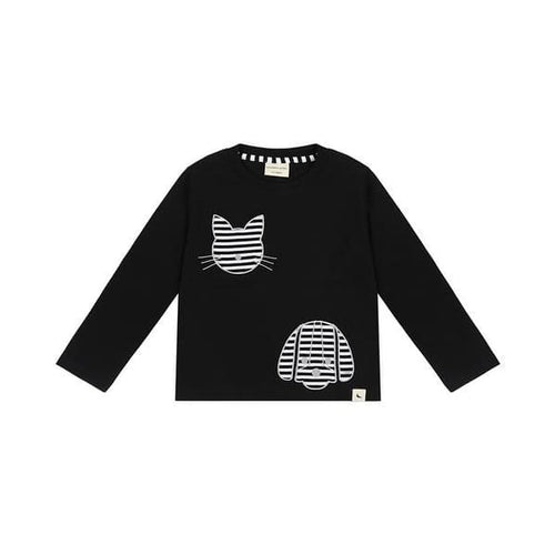 TL Shirt Percy and Maurice Long Sleeve - Black / 1-2 - Clothing
