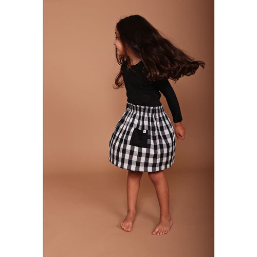 TL Skirt Check Reversible - Checkered / 1-2 - Clothing