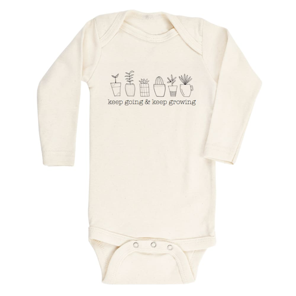 TP Onesie Long Sleeve - Going Growing / 0-3 - Clothing