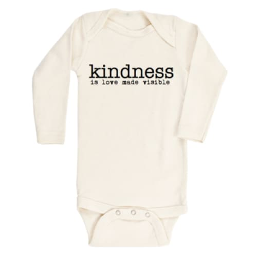 TP Onesie Long Sleeve - Kindness / 0-3 - Clothing