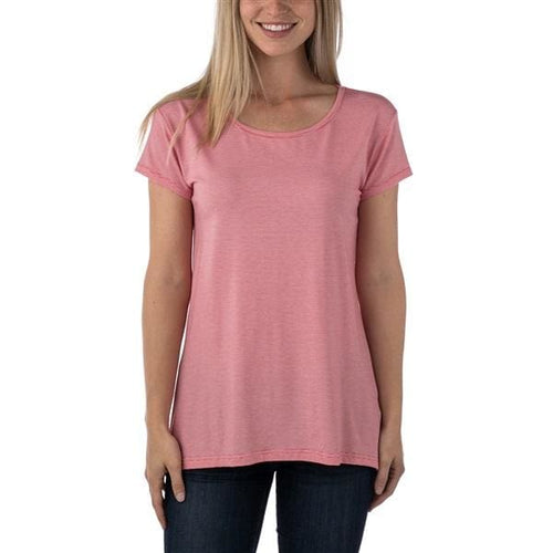 TT Goji Scoop Neck Tee - Rose / X-Small - Clothing