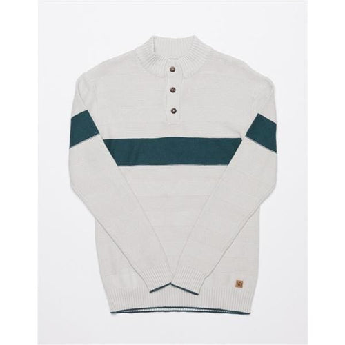 TT Sweater Button Up Iko M - Lunar Rock / Small - Clothing