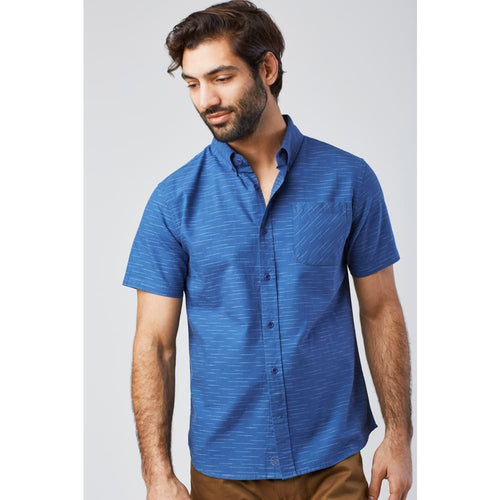 UB Coastline SS Button Down - Blue / Small - Clothing