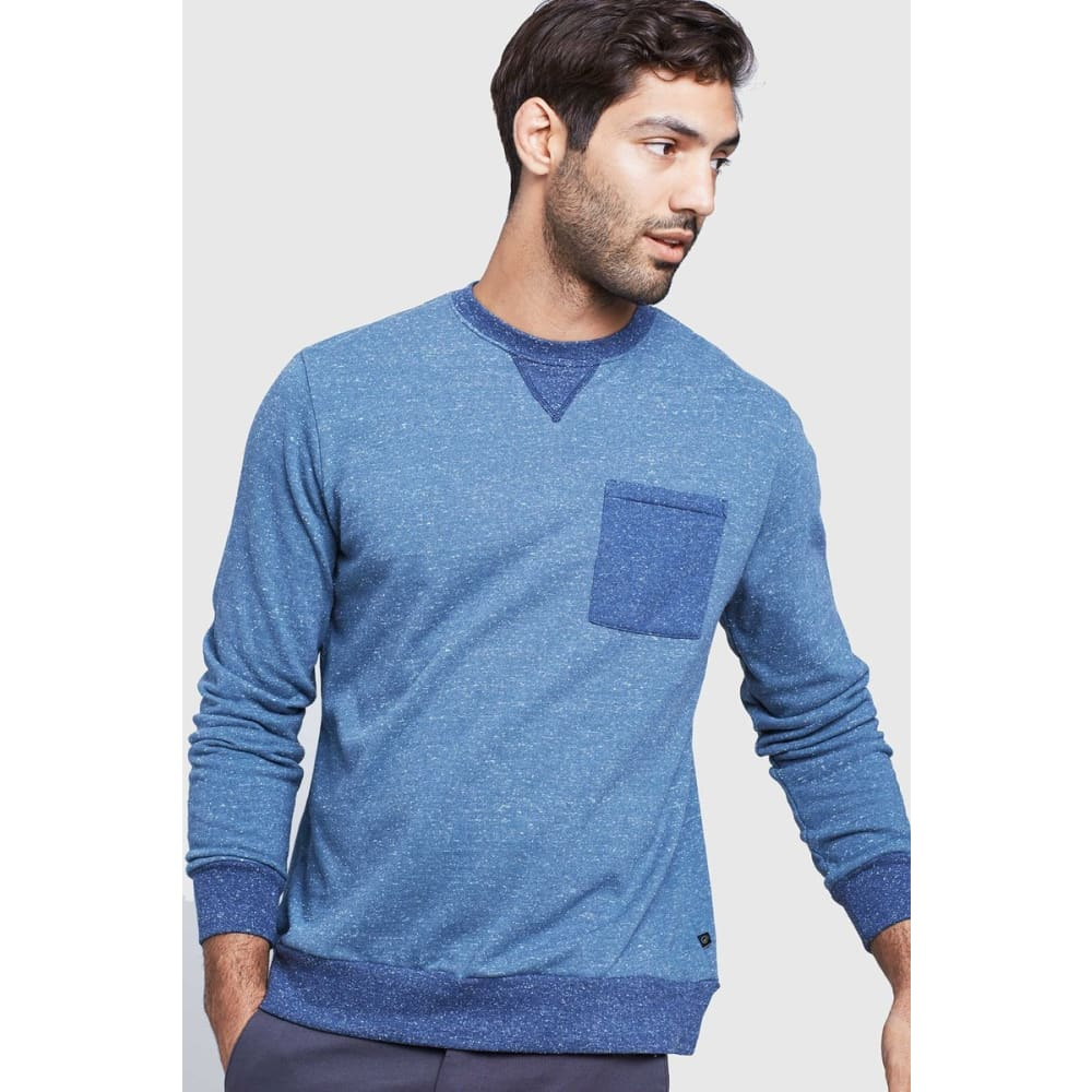 UB Colorblock Pocket Crew Sweater - Orion Blue / Small - Clothing