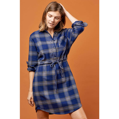 UB Dress Flannel - Navy / X-Small - Clothing