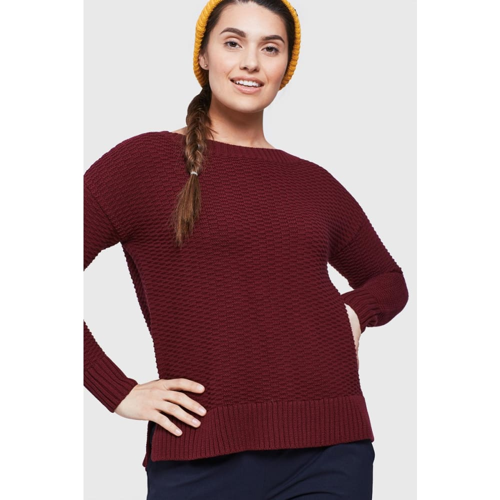 UB Himley Waffle Sweater - Plum / X-Small - Clothing