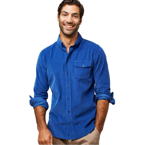 UB Shirt Long Sleeve Corduroy - Blue / X-Small - Clothing