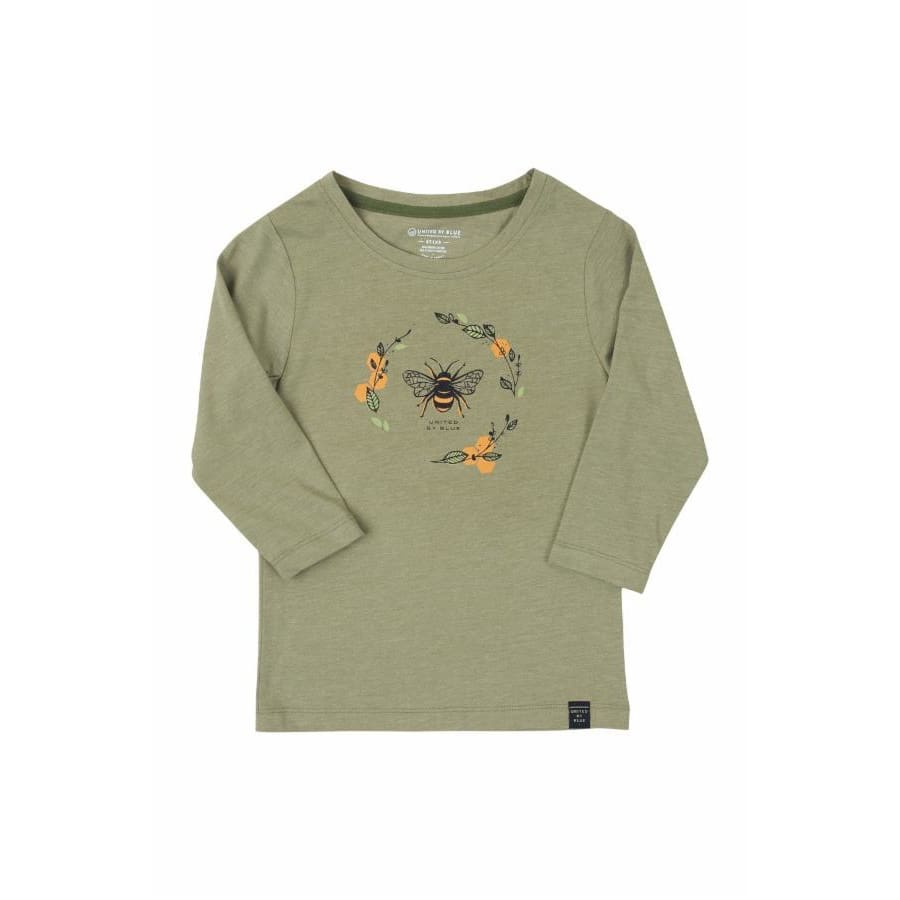 UB Shirt Long Sleeve Honey Bee Youth - Green / X-Small - Clothing