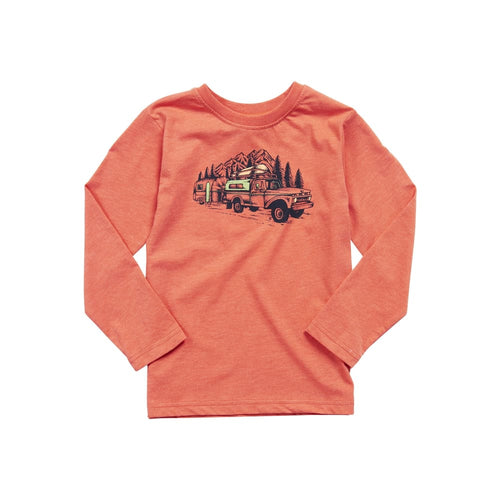 UB Shirt Long Sleeve Truck Youth - Terracotta / X-Small - Clothing