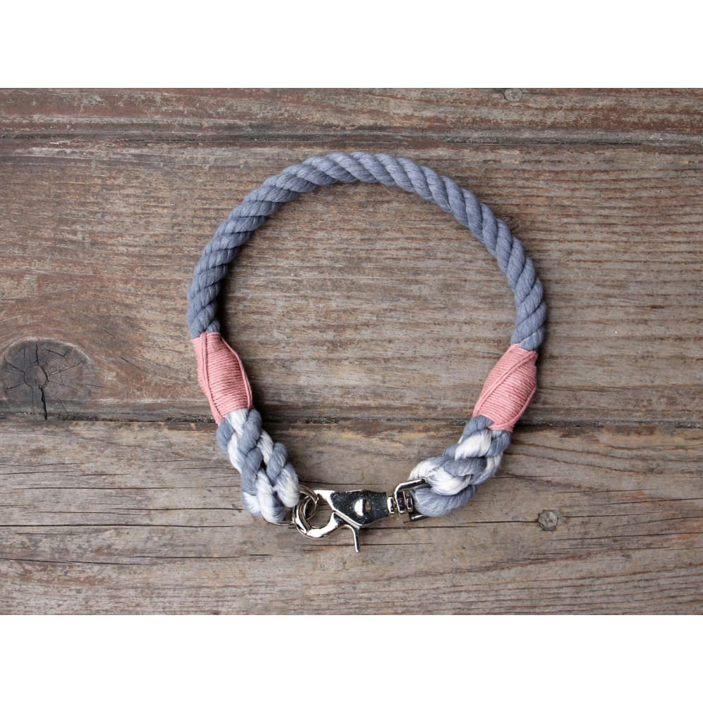 WW Collar Organic Cotton Seaside Blue - Pink / 13 - Dogs