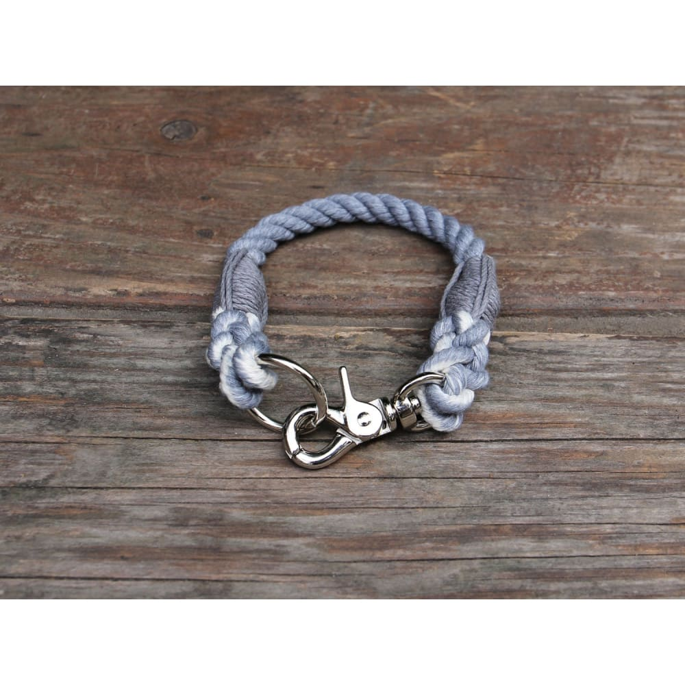 WW Collar Organic Cotton Seaside Blue - Slate / 13 - Dogs