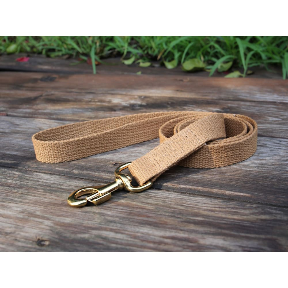 WW Tea Leash Flat Hemp - 5 ft - Dogs