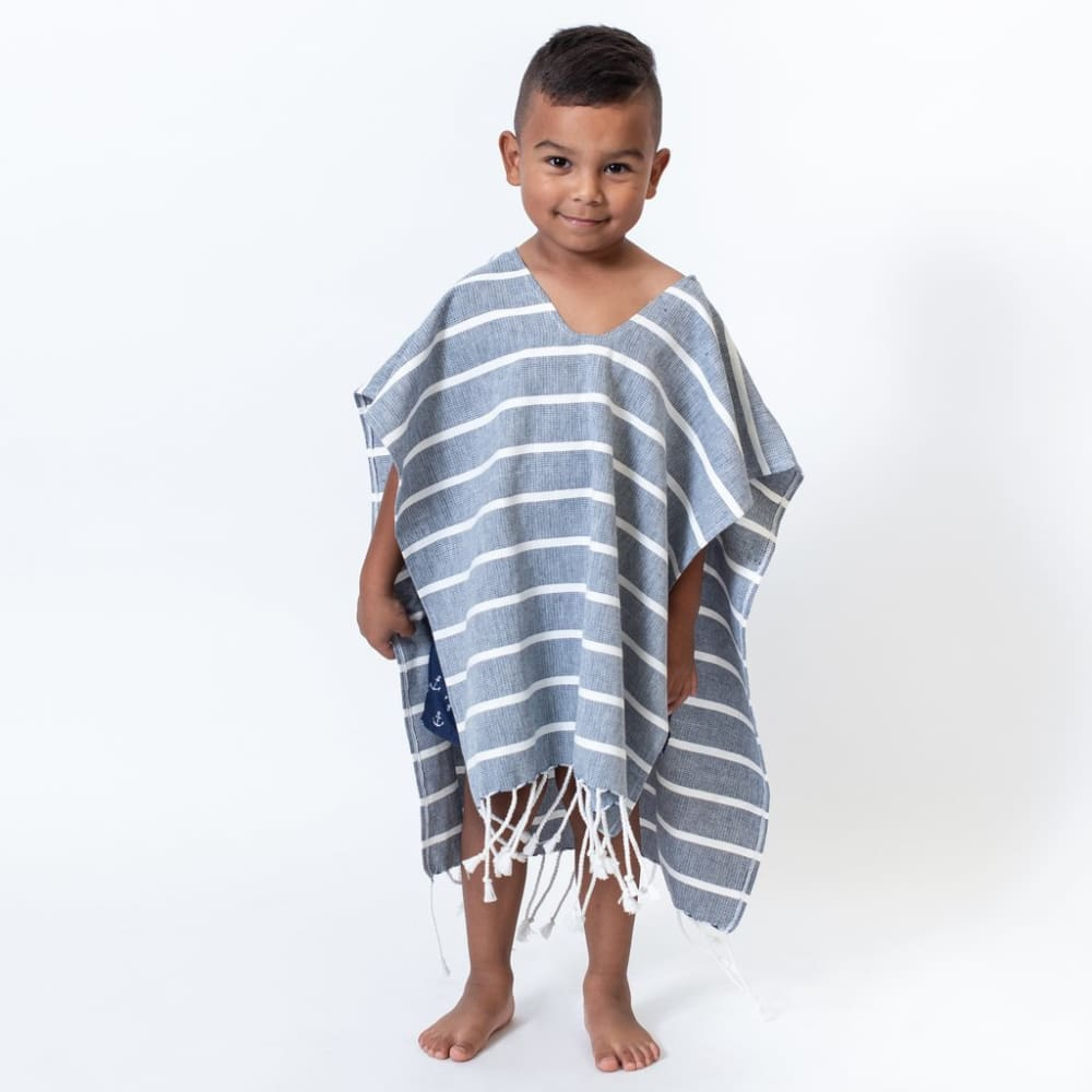 Z Poncho Organic Cotton Kids - Navy / One Size - Clothing