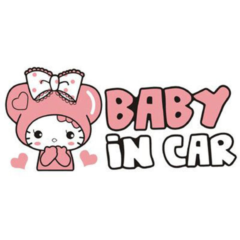 Baby In Car - Cute Cartoon Decal