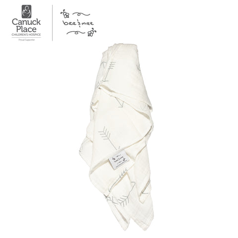 Soft and Cozy Muslin Swaddle (100% Bamboo) - Arrows