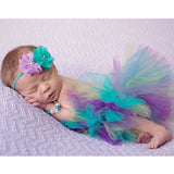 Tutu Skirt and Headband Set - Baby Photography Outfit (0-3M)